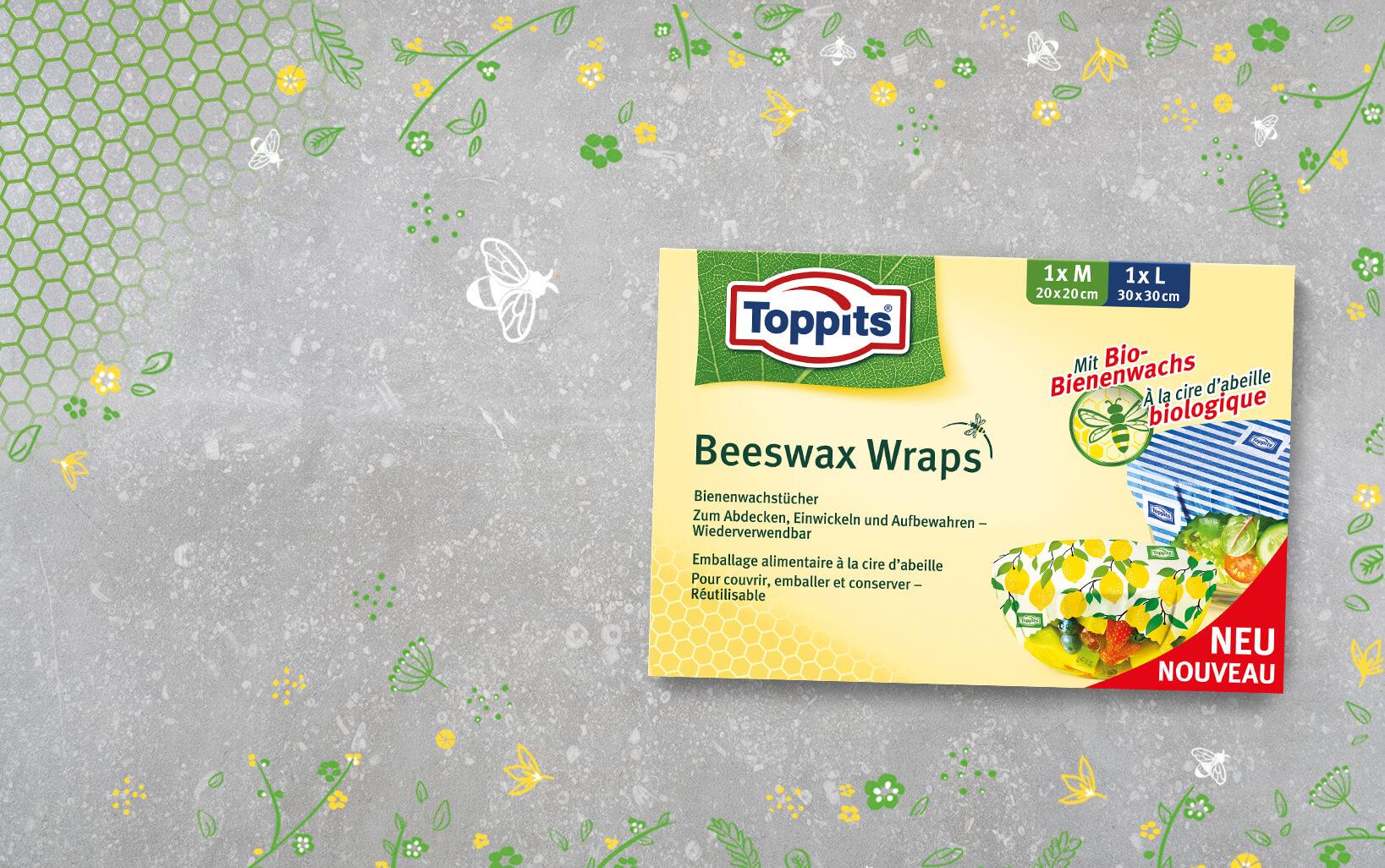 Packung Bienenwachstücher