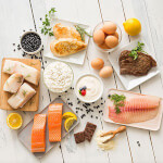 Verschiedene frische Lebensmittel